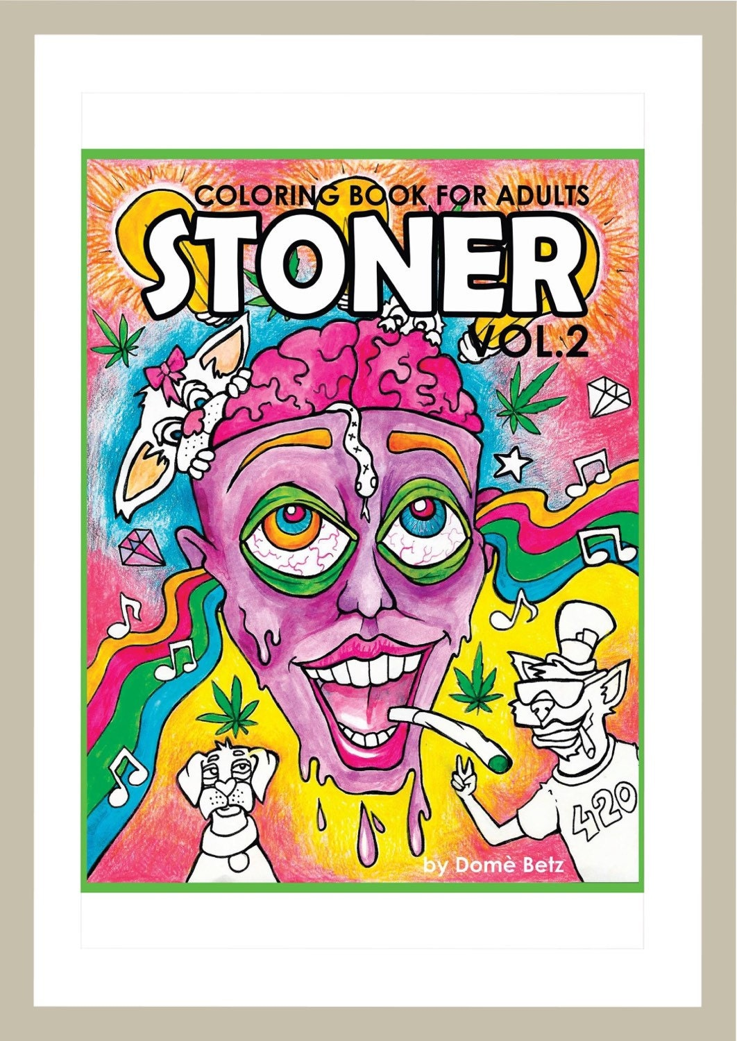 Stoner Coloring Book for Adults 2 weed stuff adult coloring