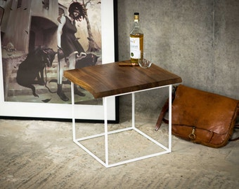 The Cube | English Walnut Side Table