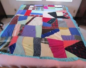 Vintage CRAZY QUILT Hand Sewn