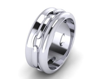 Mr Chain Silver Ring
