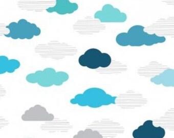Crib Sheets - Cloud Nine in Aqua, Teal, Blue