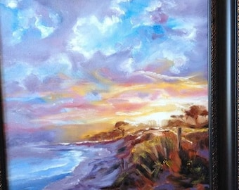 oil painting Beach