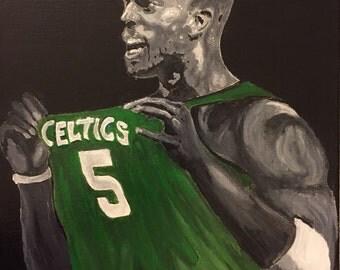 Kevin garnett celtics basket ball painting