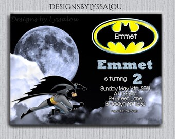 Personalized Batman Invitation Personalized Batman Birthday Invitation, Printable Batman Invitation, Personalized Batman