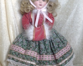 Antique Reproduction Musical Blonde Doll