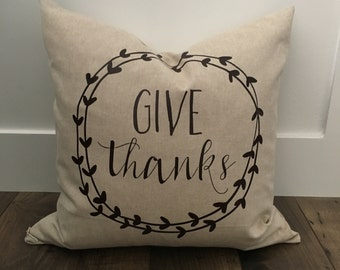 Give Thanks Down Feather Pillow
