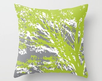 Modern Botanical Pillow : Modern Botanical Leaf Pillow Cover Tropical Palm Leaf Pillow