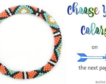 Southwestern Bracelet | Nepal Roll On Bracelet | Custom Beadwork Bracelet | Yoga Bracelet | Glass Seed Bead Bracelet Bangle, Design Your Own