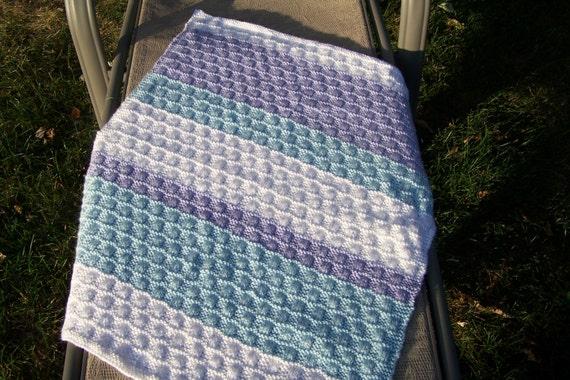Knit Pattern--Wavy Checkerboard Baby Blanket from BunnyTotemKnits on Etsy Studio
