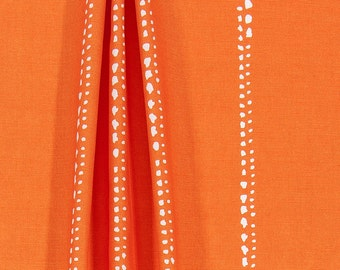 Orange Stripe Caterpillar Tracks Outdoor Fabric By The Yard Designer Indoor  Outdoor Home Decor Fabric For