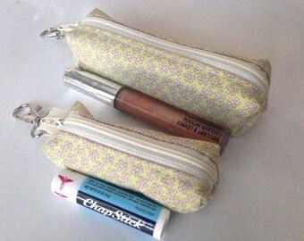 Chapstick Holder - Lip Balm Holder - Lipstick Holder - Chapstick Cozy - Lip Balm Cozy - Lipstick Cozy - Custom Chapstick Keyc