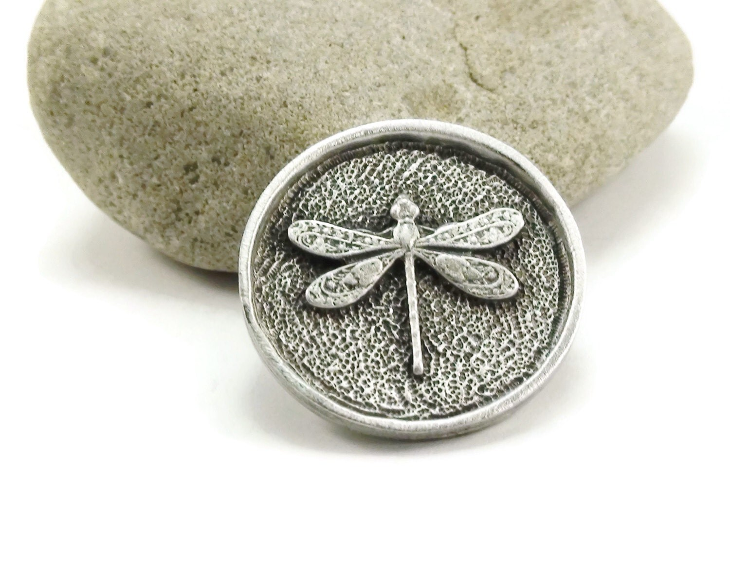 Dragonfly button metal shank button metal buttons 25mm qty for Buttons with shanks for jewelry