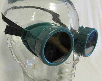 Welding Goggles, Green, USA, Steampunk, Vintage, 1950's