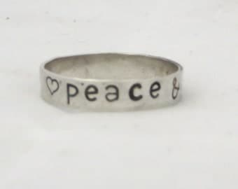 Simple stacking ring with stamping.
