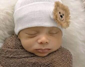 Lion Newborn Hospital Hat! 1st Keepsake! 1st Hat! Newborn Hospital Hat! Great Gift! Super Cute!