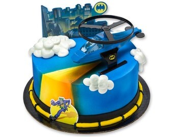 Batman Cake Topper/ Batman Cake Kit/ Batman Helicopter Cake Topper/ Batman Party