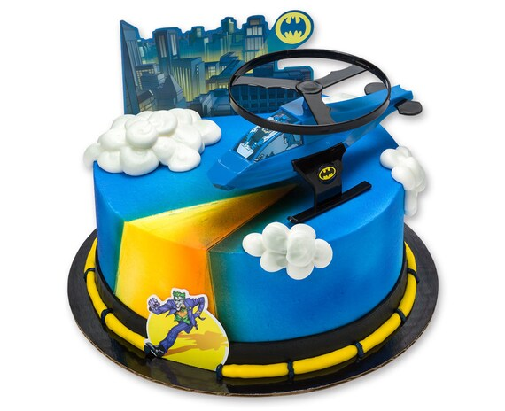 Batman Cake Topper Batman Cake Kit Batman Helicopter Cake