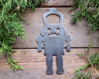 Nutcracker Rustic Steel Recycled Metal Industrial Bottle Opener, Travel Gift, wedding favor, Party gift, beer opener