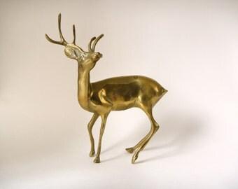 SALE vintage brass stag deer/ buck deer