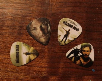 4 The Walking Dead Guitar Picks, Custom Guitar Pick, Custom Guitar Picks, Personalized Guitar Pick