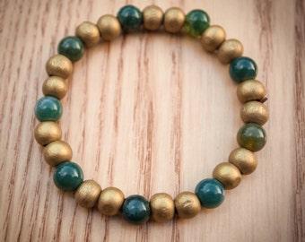 Wood and Gemstone Bracelet 4