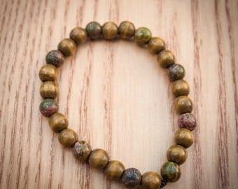 Wood and Gemstone Bracelet 8