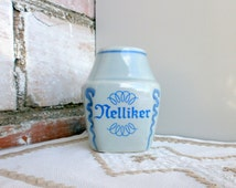 Mid Century SOHOLM Spice jar,  Danish ceramic jars for cloves, Denmark pottery container for spices 1960s