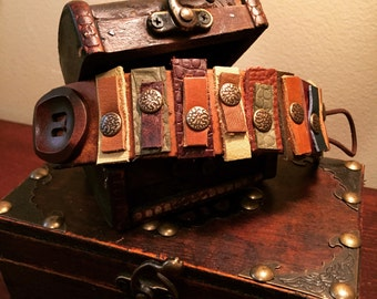 Leather Bits & Pieces cuff