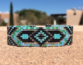 Thunderbird with arrows bead loom bracelet bohemian by for Thunderbird jewelry albuquerque new mexico