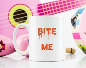 Bite me 11oz mug Vampire dracula