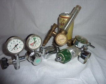 Vintage Steam Punk Gadgets and Gauges Lamp Bases