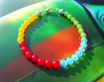 TOUCAN bracelet summer stained glass beads