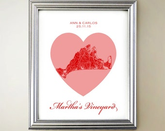 Martha's Vineyard Heart Map