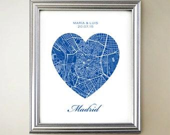 Madrid Heart Map