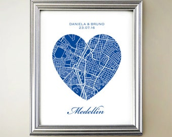Medellín, Colombia Heart Map