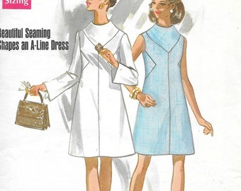 Vintage 1960s Butterick Sewing Pattern 5301- Misses' Dress size 12 Bust 34 uncut