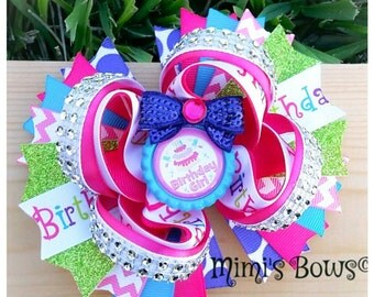 5 Inch Happy Birthday Boutique Hair Bow!