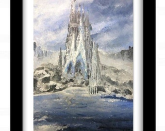 Ice Castle- Print of Original Acrylic Painting