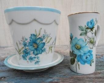 Vintage Ceramic Planter Set!