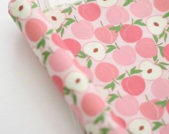 Laminated Mini Peach Pattern Digital Printing Cotton Fabric by Yard - Light Pink