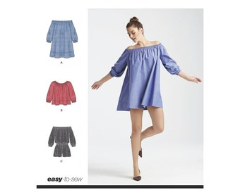 Simplicity Sewing Pattern 8124 Misses' Romper Dress & Top. Cynthia Rowley Collection