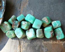 Chrysoprase Apple Green (choose 1-2/ M-L) Gently Tumbled. For Patience, Peace, JOY, Inner Contentment. Healing Crystal Stone