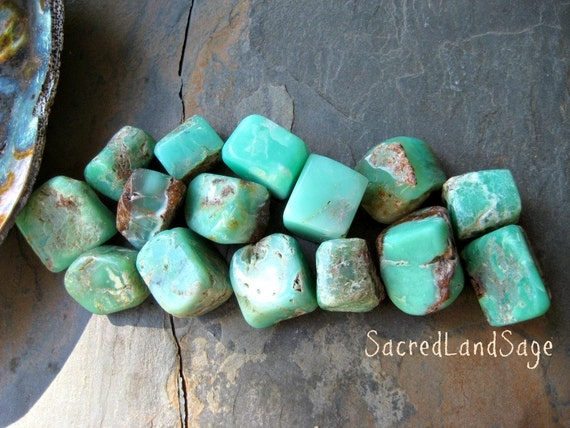 Chrysoprase Apple Green Choose 1 2 M L Gently Tumbled For