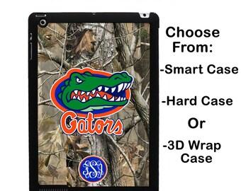 iPad Florida UF Realtree Camo Monogram iPad Mini 1/2/3/4 Smart Case Personalized iPad Air 1/2 iPad 2/3/4 3D Case iPad Retina Flip Case #2725