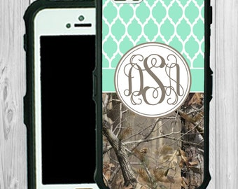 Monogram iPhone Case Personalized iPhone 5 5C Real Tree Camouflage Monogrammed Phone Case iPhone 5S Water Resistant Heavy Duty Case #2315
