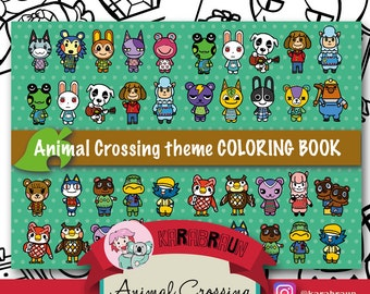 Animal Crossing Theme Coloring Book (CB-ACNL001)