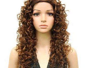 "Amber Doll Wig is DARK BROWN Color Spiral Curls Wig in Size 14-15"" and Discontinued by Kemper. New in Package"