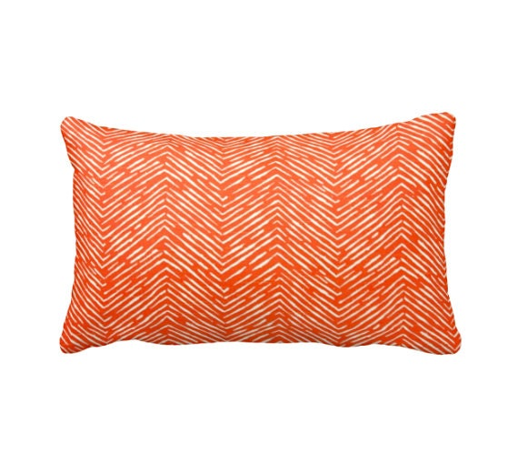 Dimensions Of Throw Pillow : 7 Sizes Available: Orange Throw Pillow Orange Pillow Cover