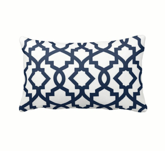 Decorative Pillow Measurements : 7 Sizes Available: Navy Pillow Cover Navy Throw Pillow Cover