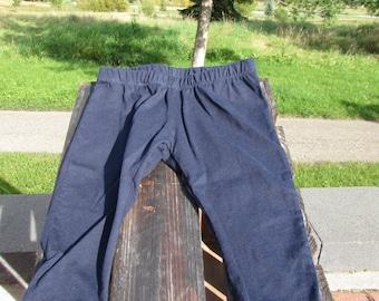 Baby Pants - Navy and Gray - Leggings